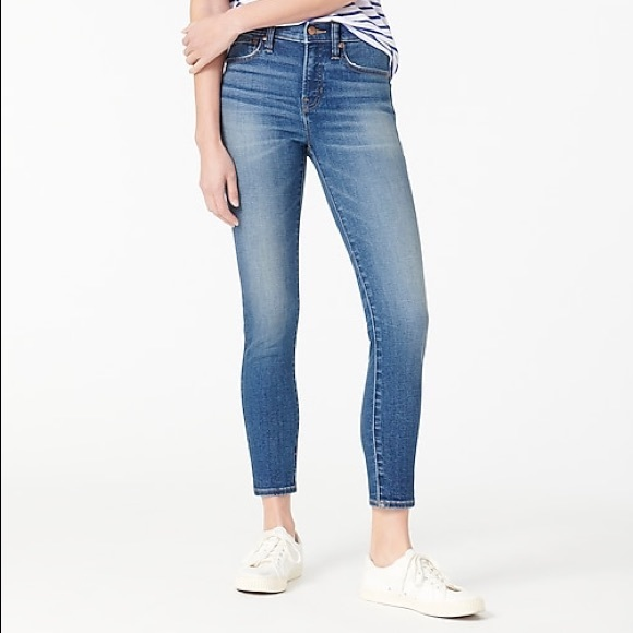 """J. Crew 9"""" High-Rise Toothpick Skinny Jeans in Kent Wash Size 30"""